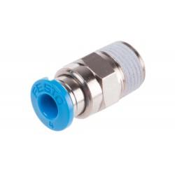 Racor roscado recto para conexión de tubo QS-3/8 - Festo