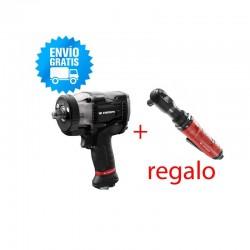 LLave de impacto 1/2 FACOM NS.3500G + VR.S3136PB de Regalo