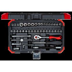 Juego de llaves de vaso 1/4 R49003046 - 46 piezas GEDORE red