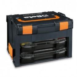 Maletín porta-herramientas en ABS con 2 cajas...