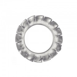 Arandela dentada zincada DIN 6798