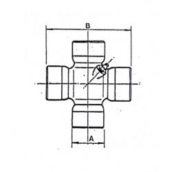 Cruceta de cardan 41,3x142,5