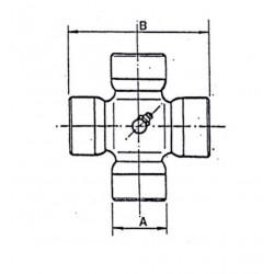 Cruceta de cardan 28x71,5