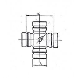 Cruceta de cardan 26,5x71x52,5