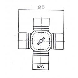 Cruceta de cardan 49,24x154,9