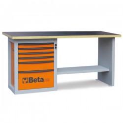 Mesa de trabajo con 1 cajonera de seis cajones C59A BETA