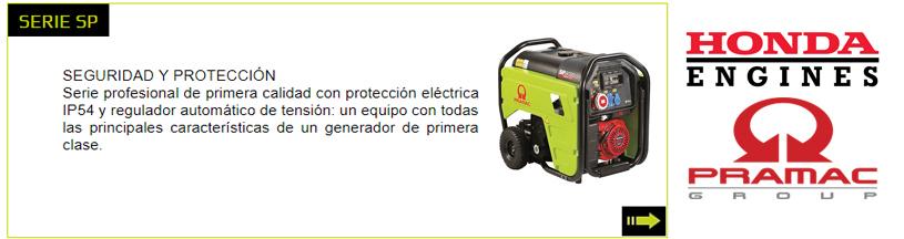 Generadores Pramac Serie SP