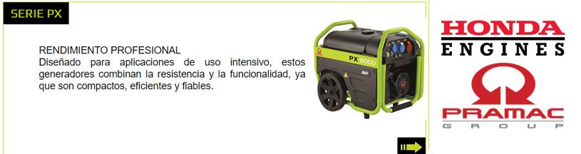 Generadores Pramac serie PX Indauto